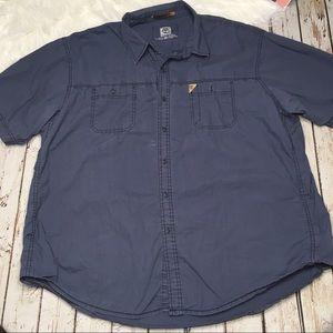 Timberland blue buttoned down shirt size XXL